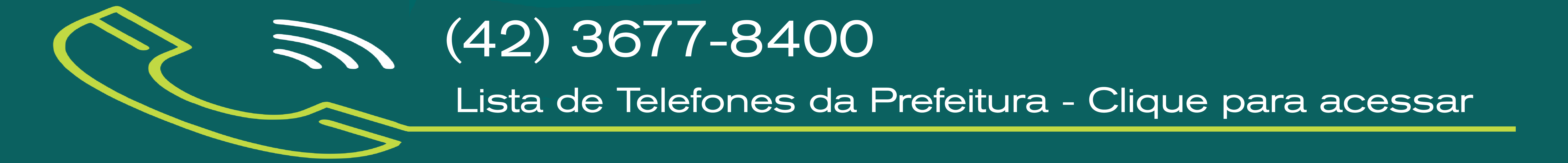 Telefones para contato