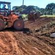 Cascalhamento estrada chalé ate santa Terezinha linha transporte escolar ajudando a sec transporte