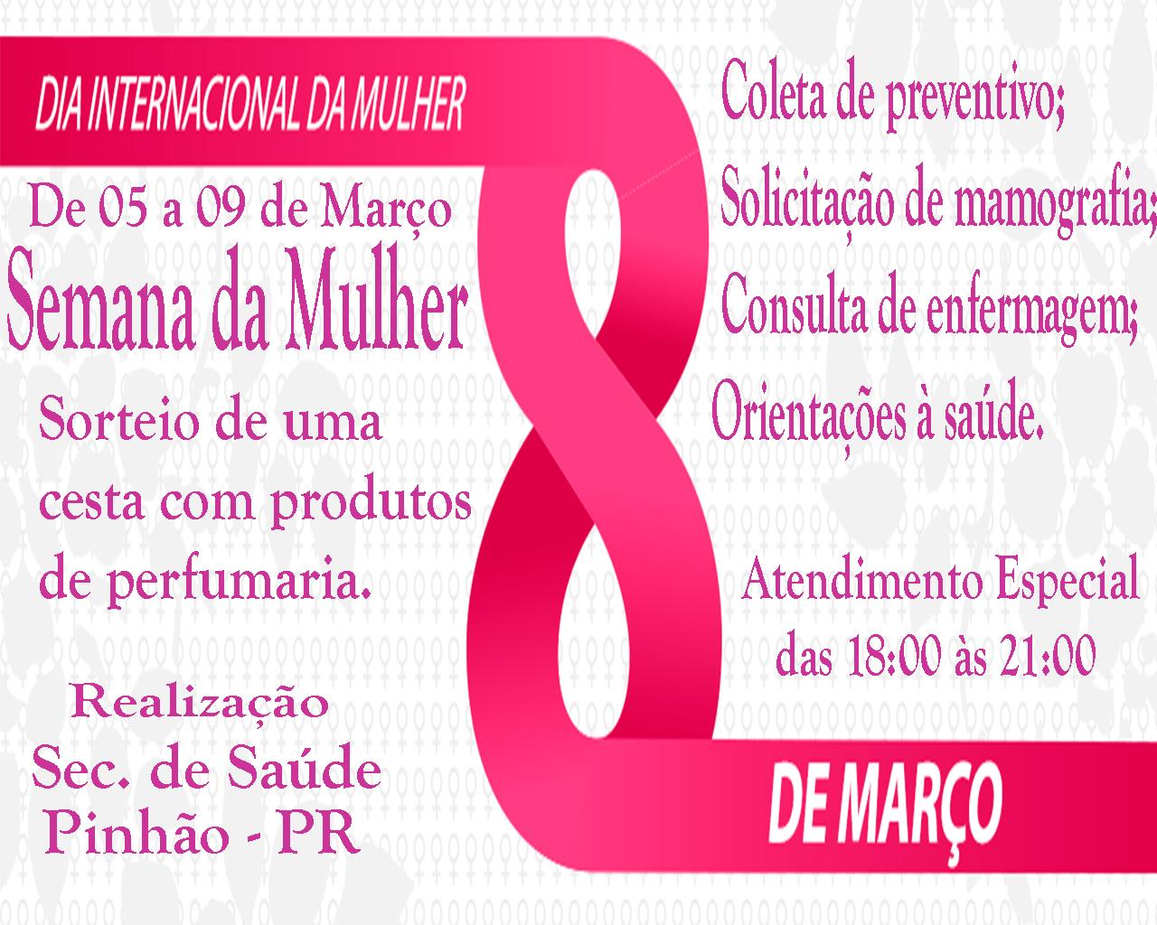 SEMANA DA MULHER 8 DE MARÇO